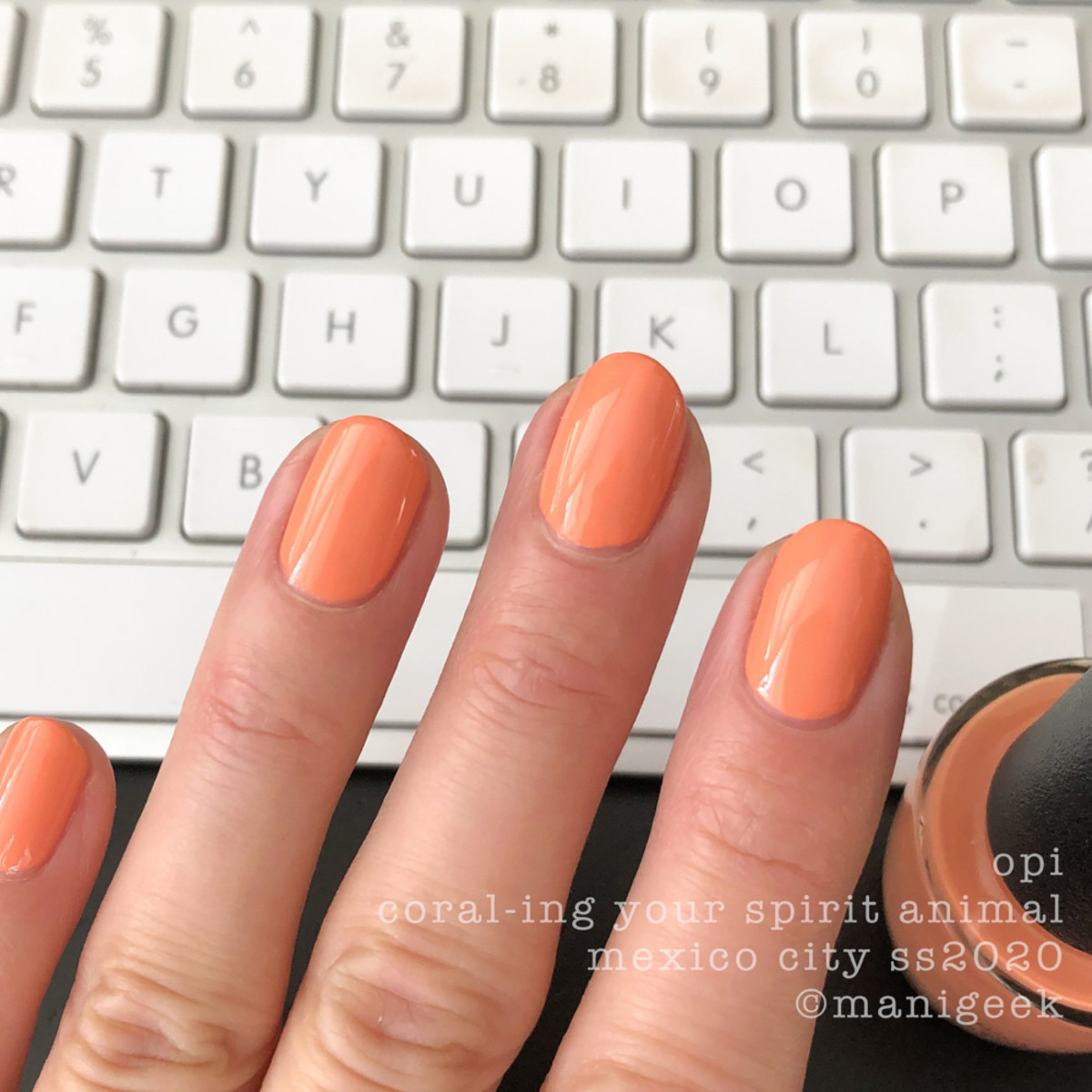 OPI Coral-ing Your Spirit Animal - OPI Mexico City Swatches Review 2020