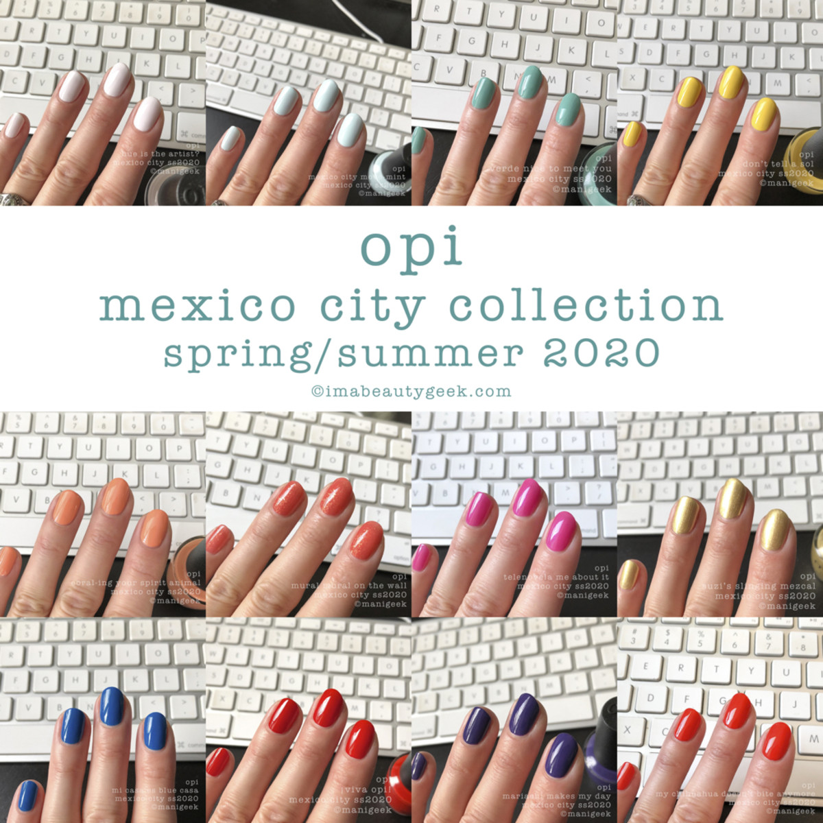 OPI Mexico City Collection Swatches Review Manigeek