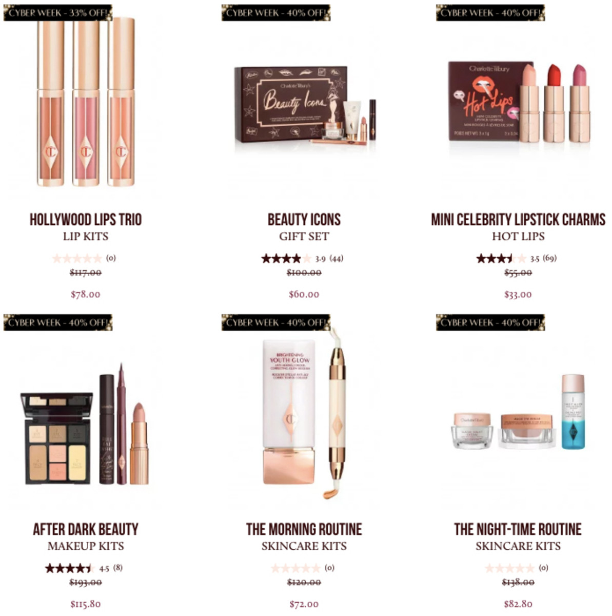 Charlotte Tilbury Black Friday/Cyber Monday 2018 daily deals