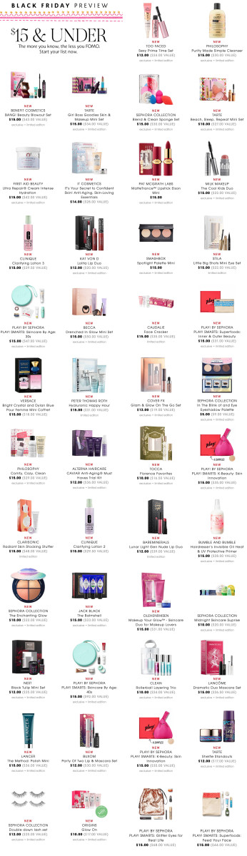 Sephora US Black Friday 2018 deals