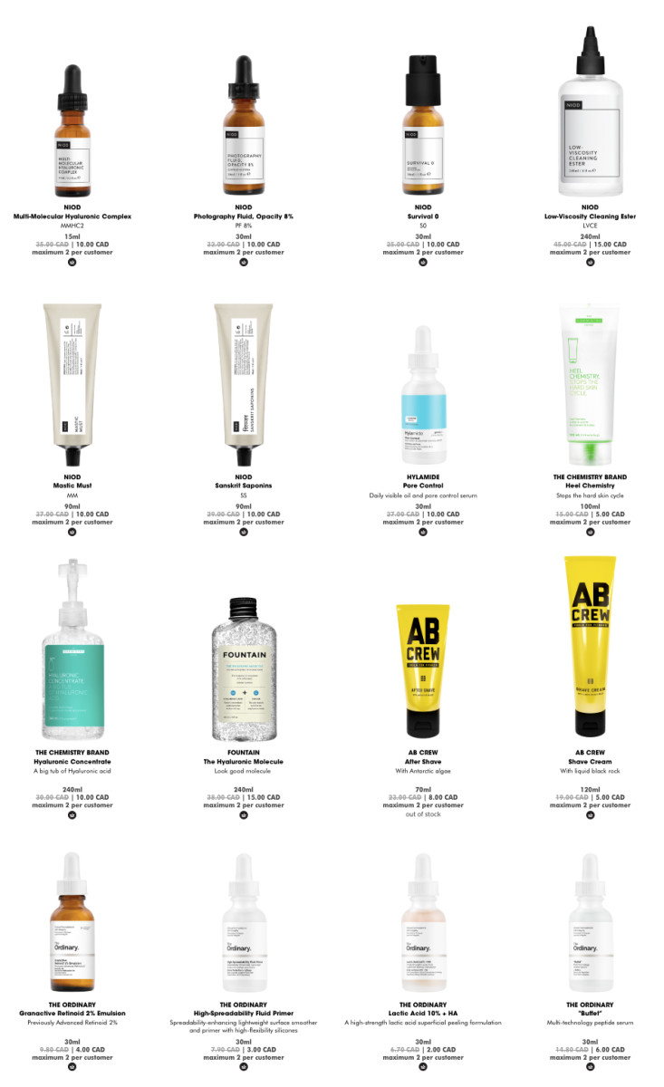 Deciem Black Friday 2018 deals