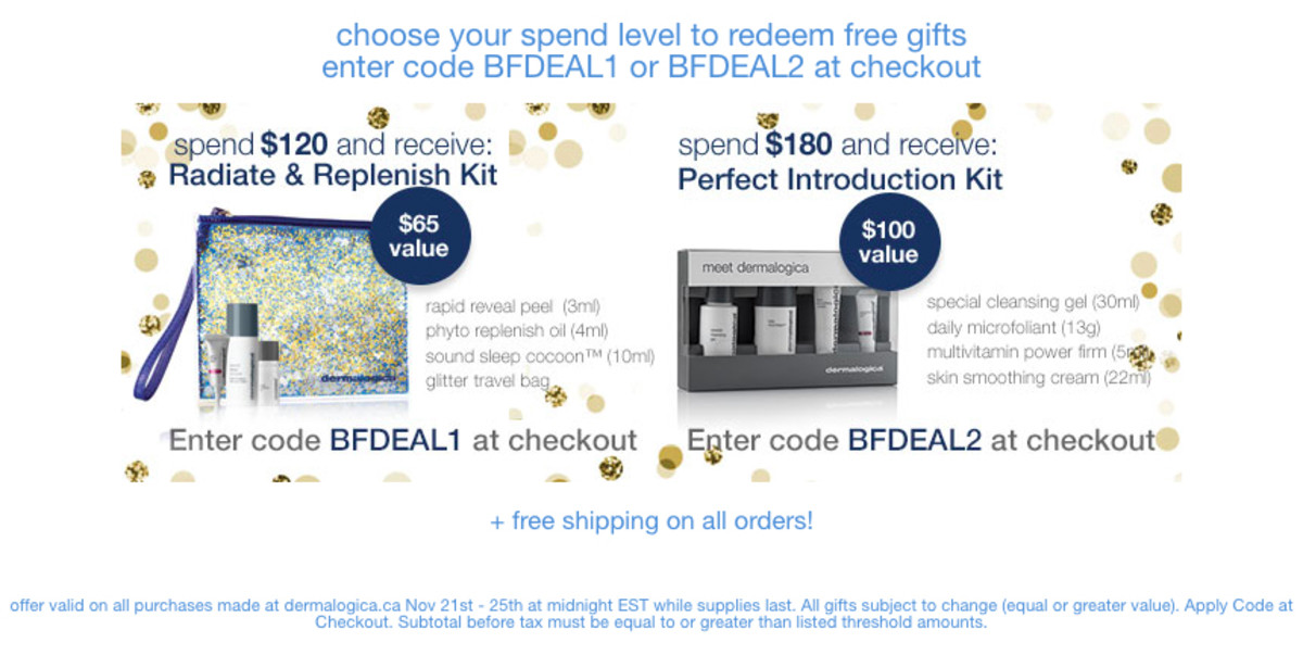 Dermalogica Canada Black Friday gifts-with-purchase