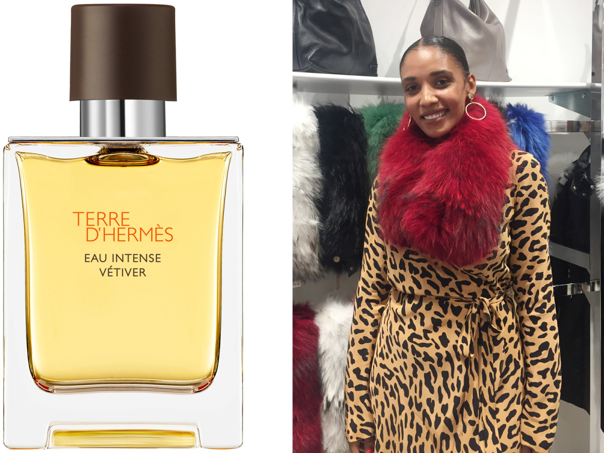 Hermès Terre D'Hermès Eau Intense Vétiver eau de parfum and fashion stylist Courtney Madison