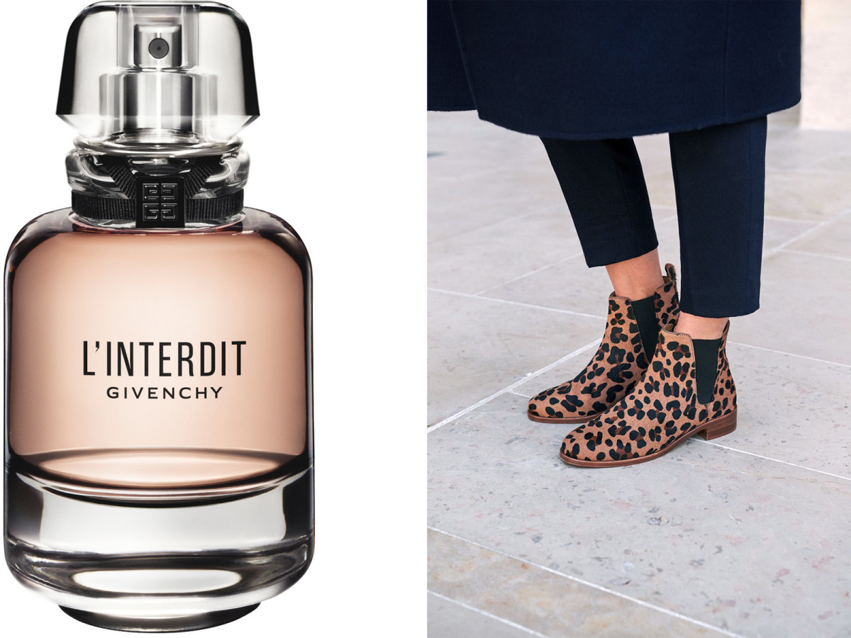 Givenchy L'Interdit 2018 and leopard-print Chelsea ankle boots