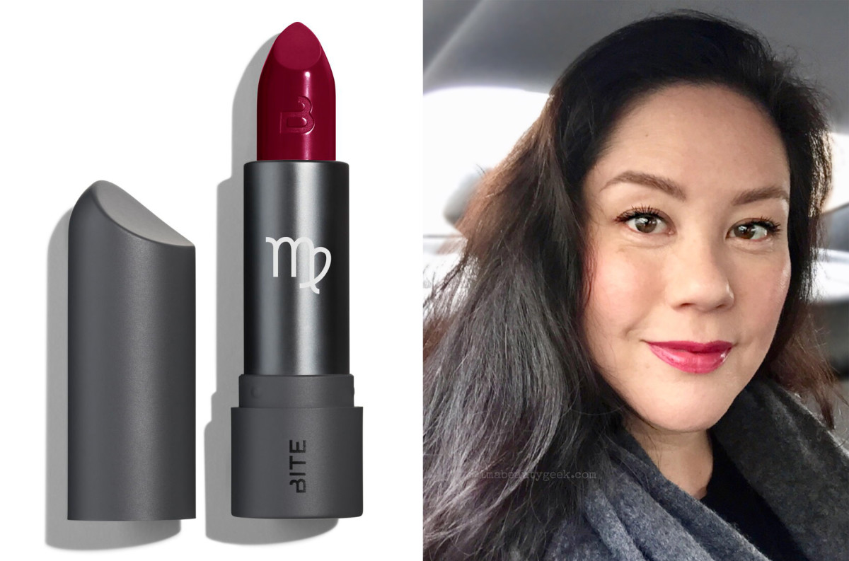 Bite Beauty Astrology Amuse Bouche Lipstick in Virgo and me in a matching outfit *grin*