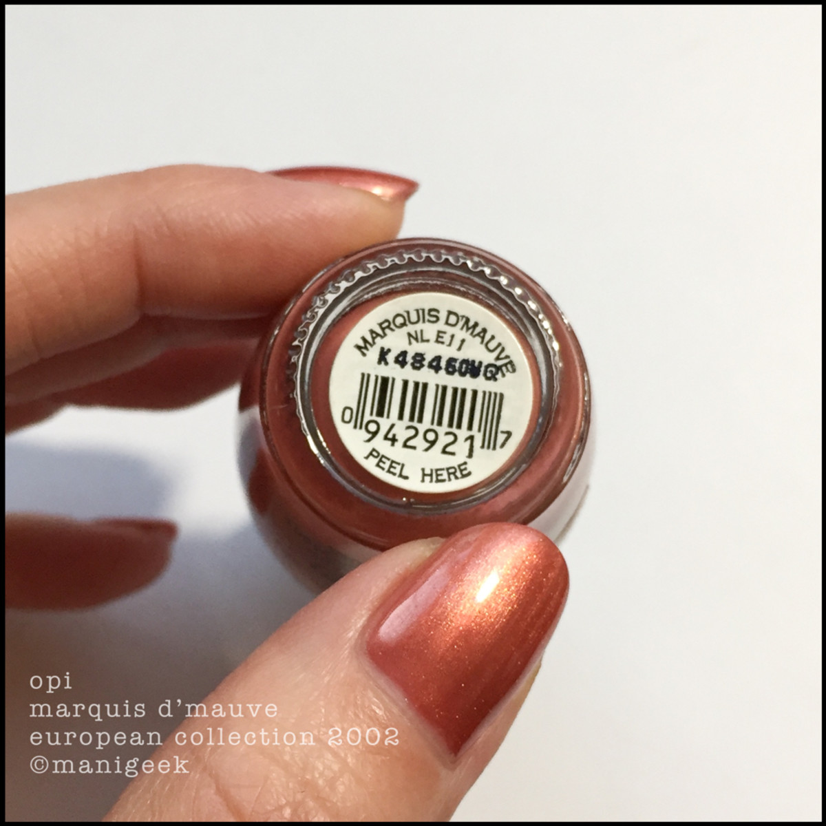 OPI Marquis D'Mauve Black Lavel European Collection 2002