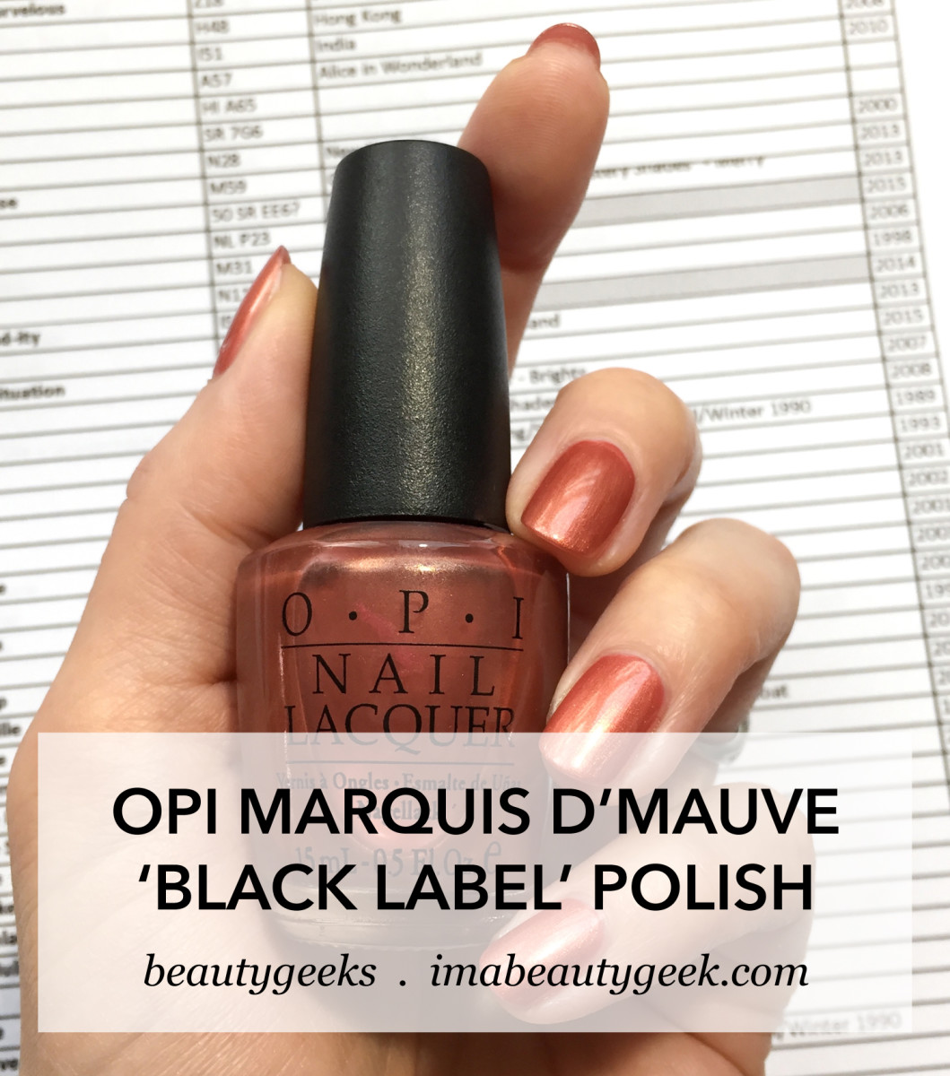 OPI Marquis DMauve 2002 _ OPI European Collection NL E11_option B