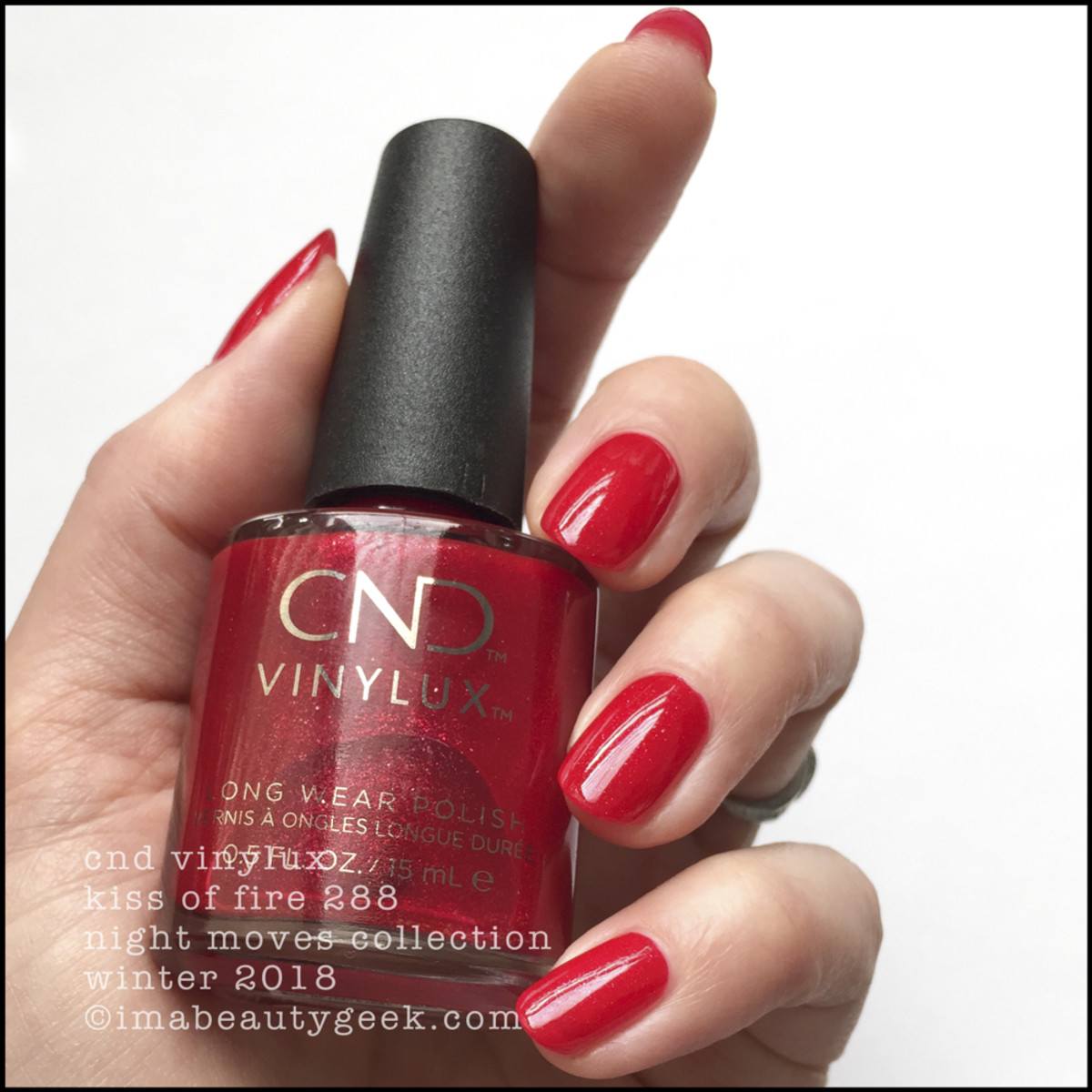CND Kiss of Fire 288 - Vinylux Night Moves Collection 2018