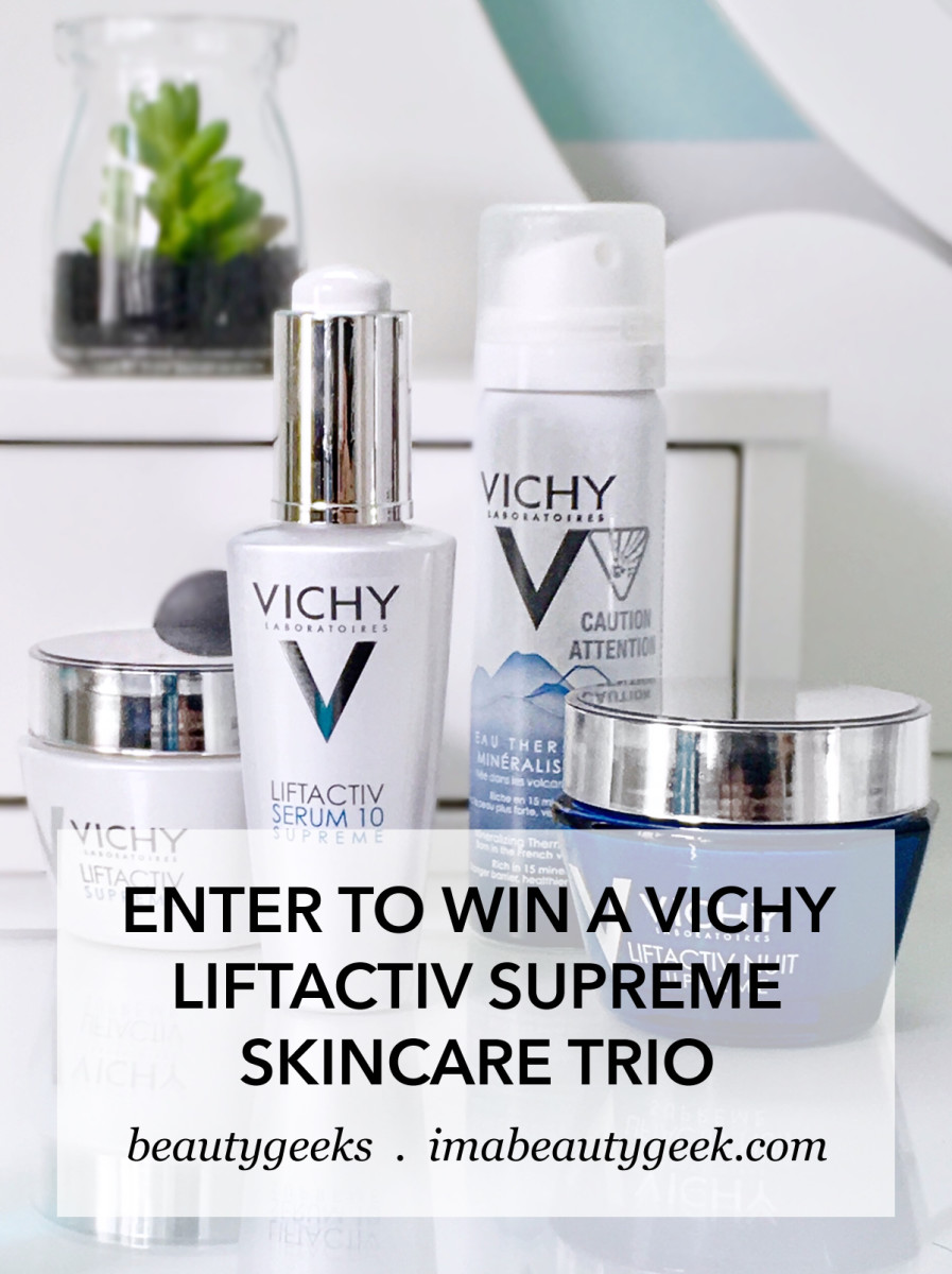 win Vichy LiftActiv Supreme skincare trio
