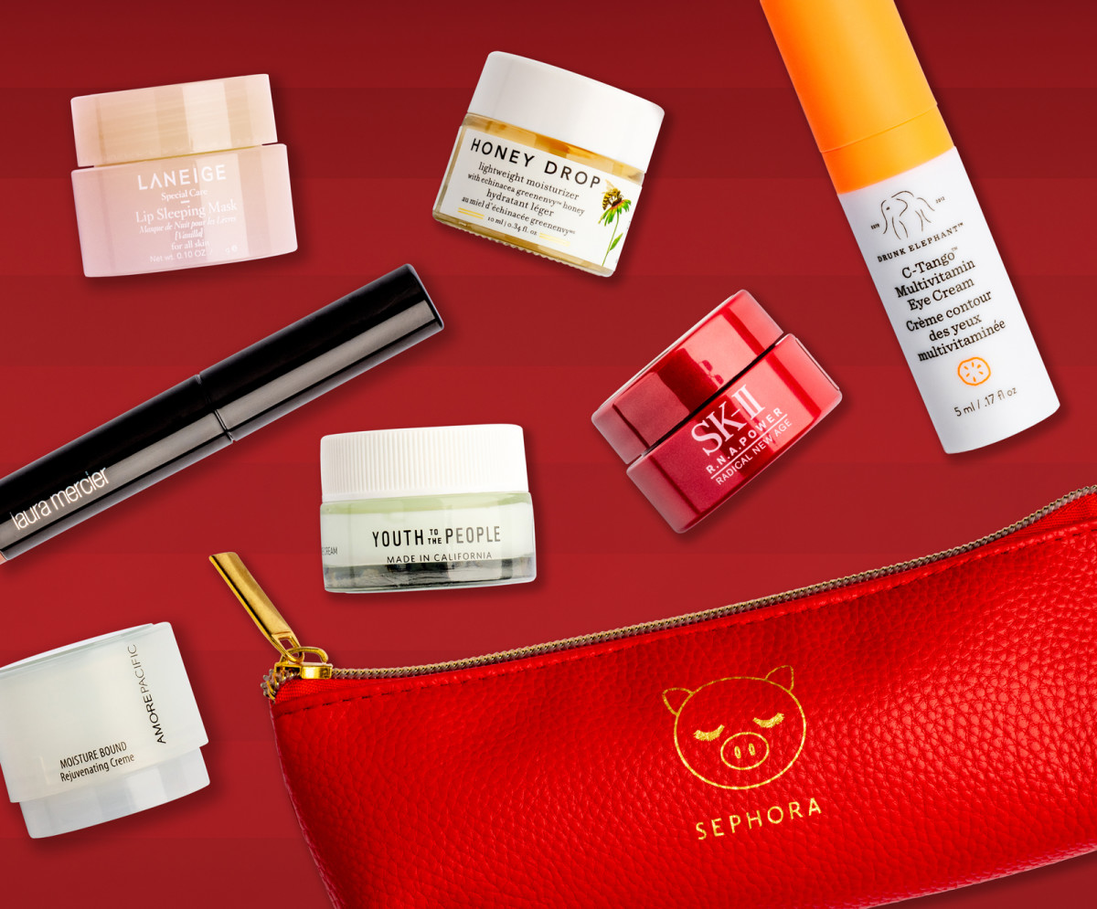 Sephora Canada Lunar New Year luxury sample pouch.