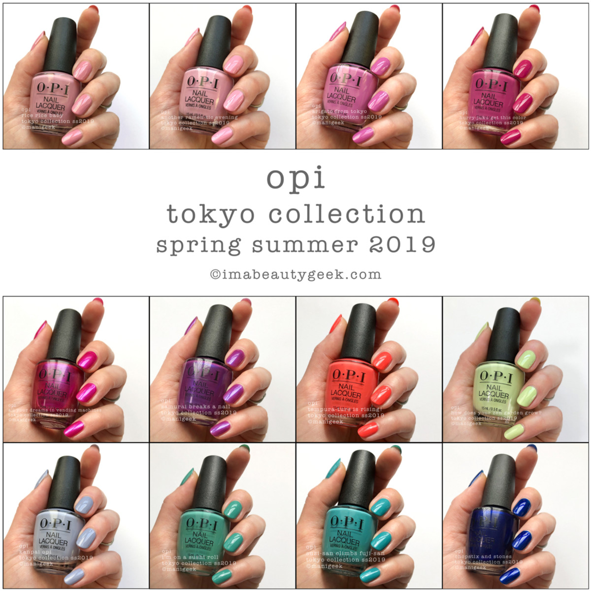 OPI Tokyo Collection Swatches Review Beautygeeks Composite