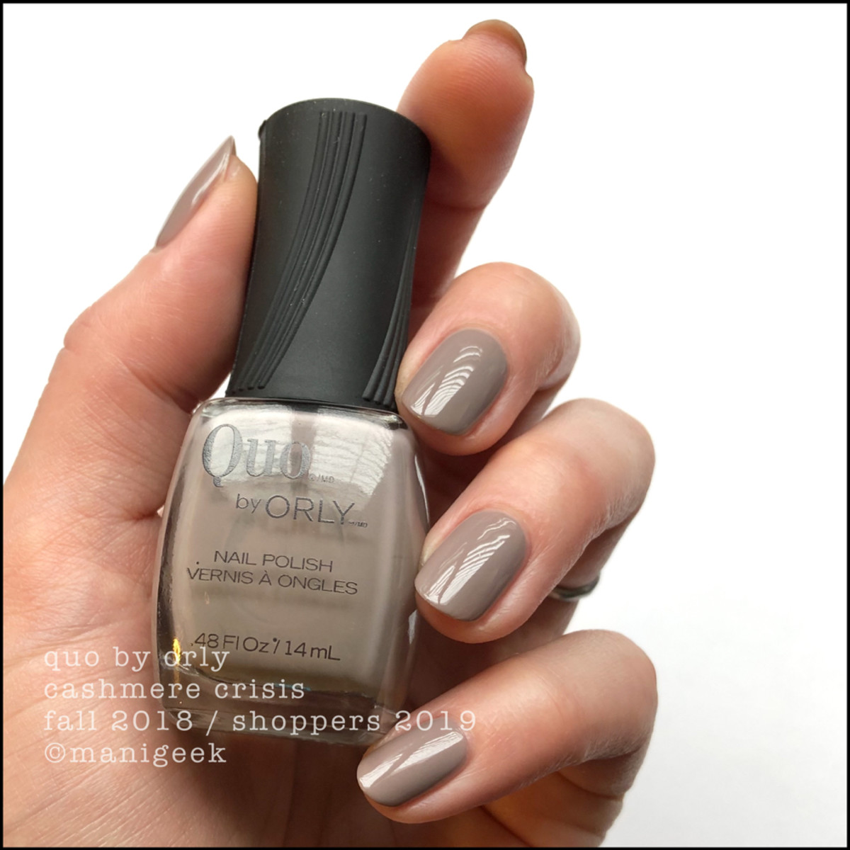 Quo by Orly Cashmere Crisis Fall 2018