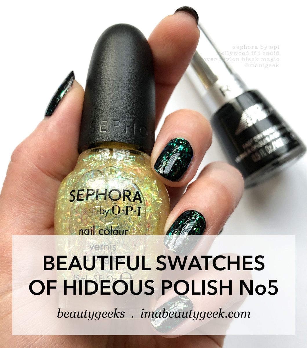 Sephora by OPI Hollywood if I Could over Black_NOTD