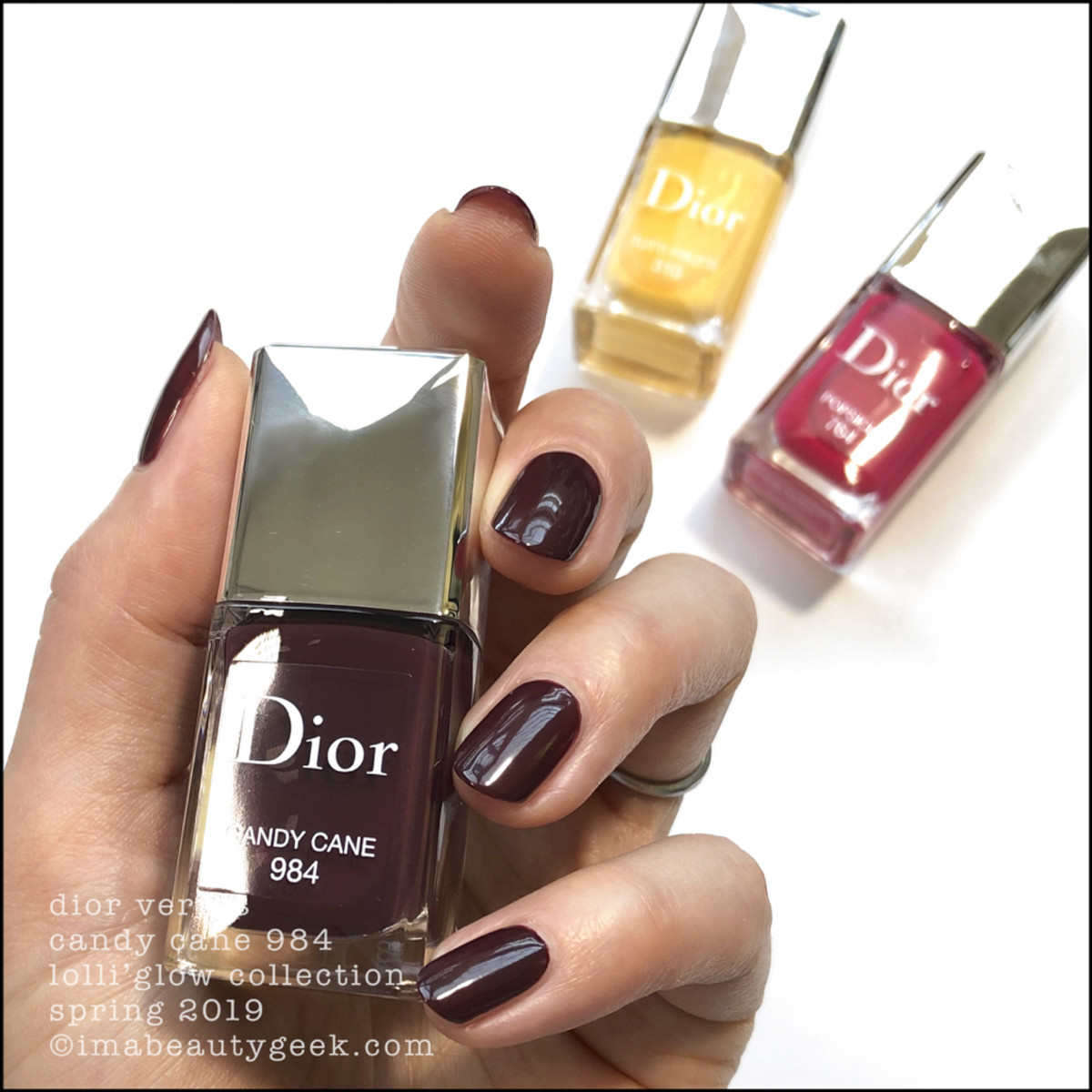 Dior Candy Cane 984 - Dior Lolli'Glow Swatches Spring 2019