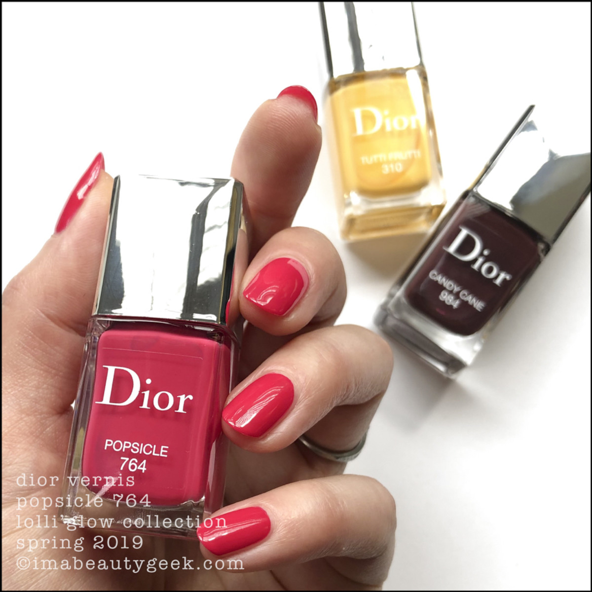 Dior Popsicle 764 - Dior Lolli'Glow Swatches Spring 2019