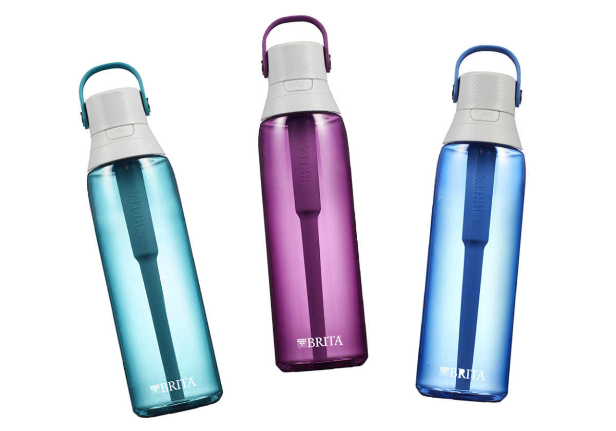 Each Brita Premium Filtering Bottle ($24.99) has its own charcoal filter