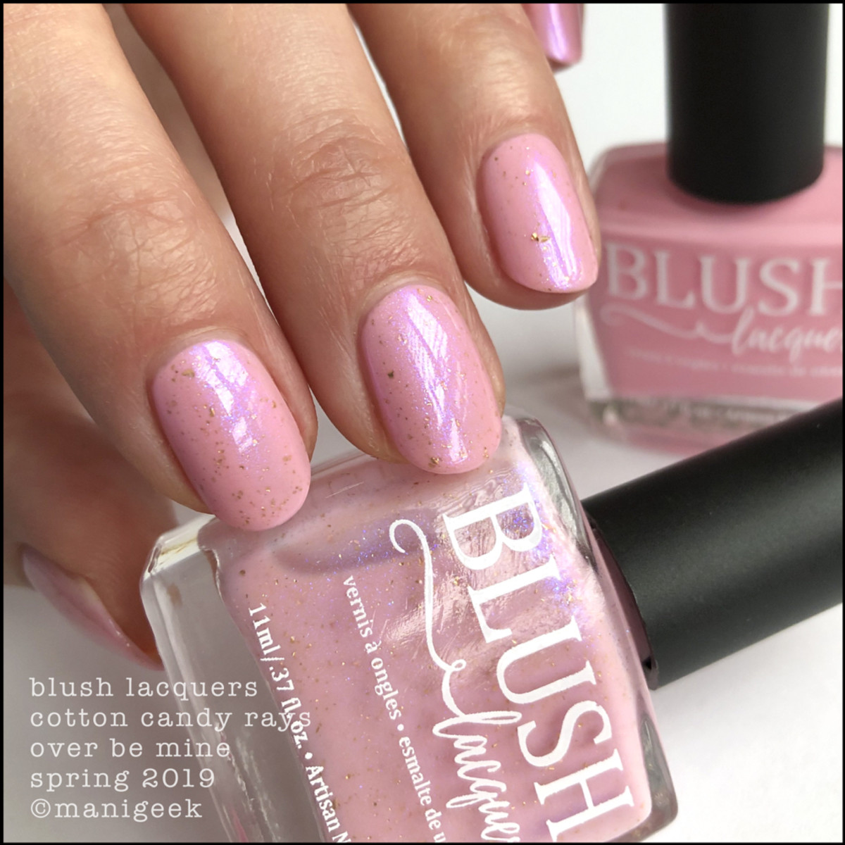 Blush Lacquers Cotton Candy Rays over Be Mine - Blush Lacquer Spring 2019