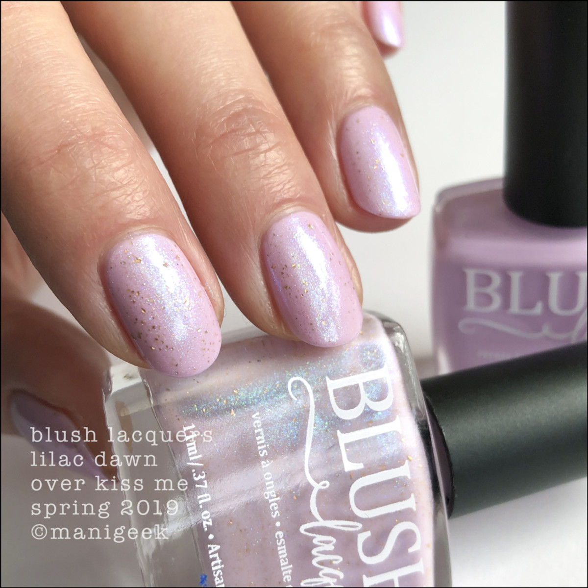 Blush Lacquers Lilac Dawn over Kiss Me - Blush Lacquer Spring 2019