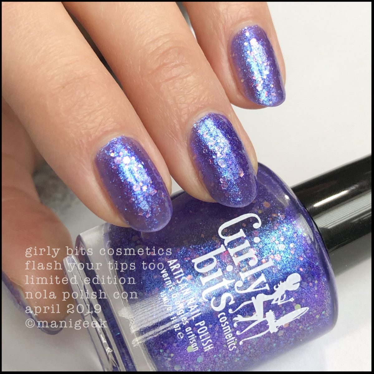 Girly Bits Flash Your Tips Too - LE Girly Bits Polish Con NOLA April 2019