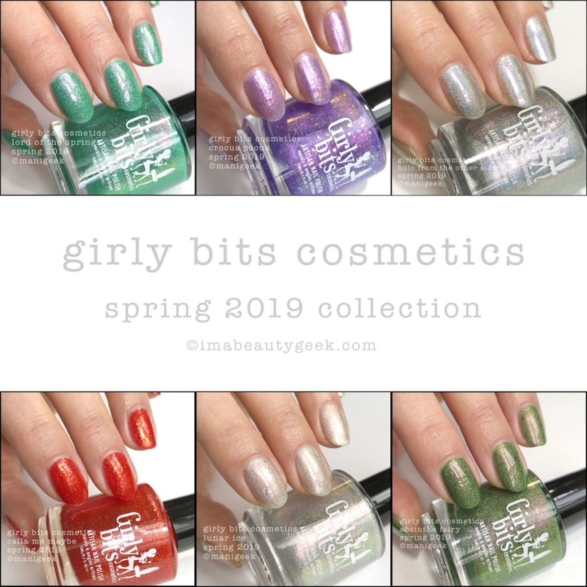 Girly Bits Spring 2019 Collection Swatches Beautygeeks Composite