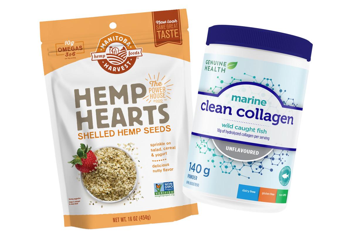 Manitoba Harvest Hemp Hearts and Genuine Health Marine Collagen