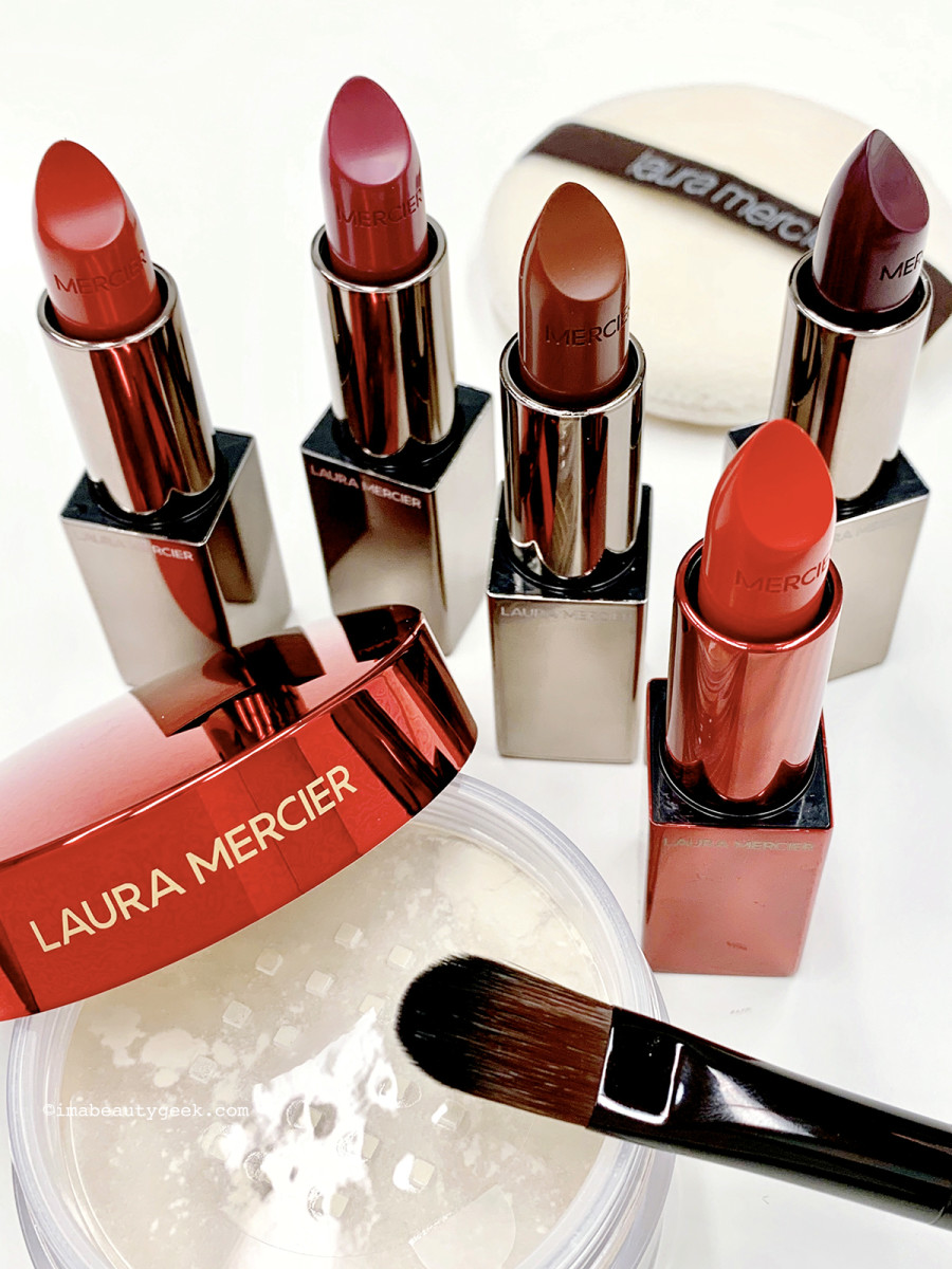 Laura Mercier Rouge Essentiel giveaway lipsticks