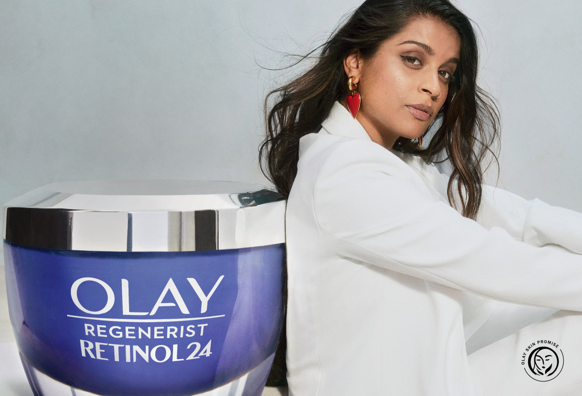 YouTuber, comedian and talk-show host Lilly Singh and her un-retouched skin for Olay