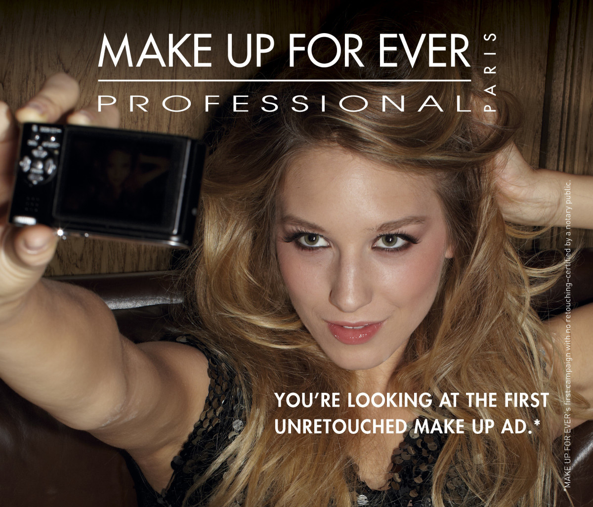 Make Up For Ever First Unretouched Ad