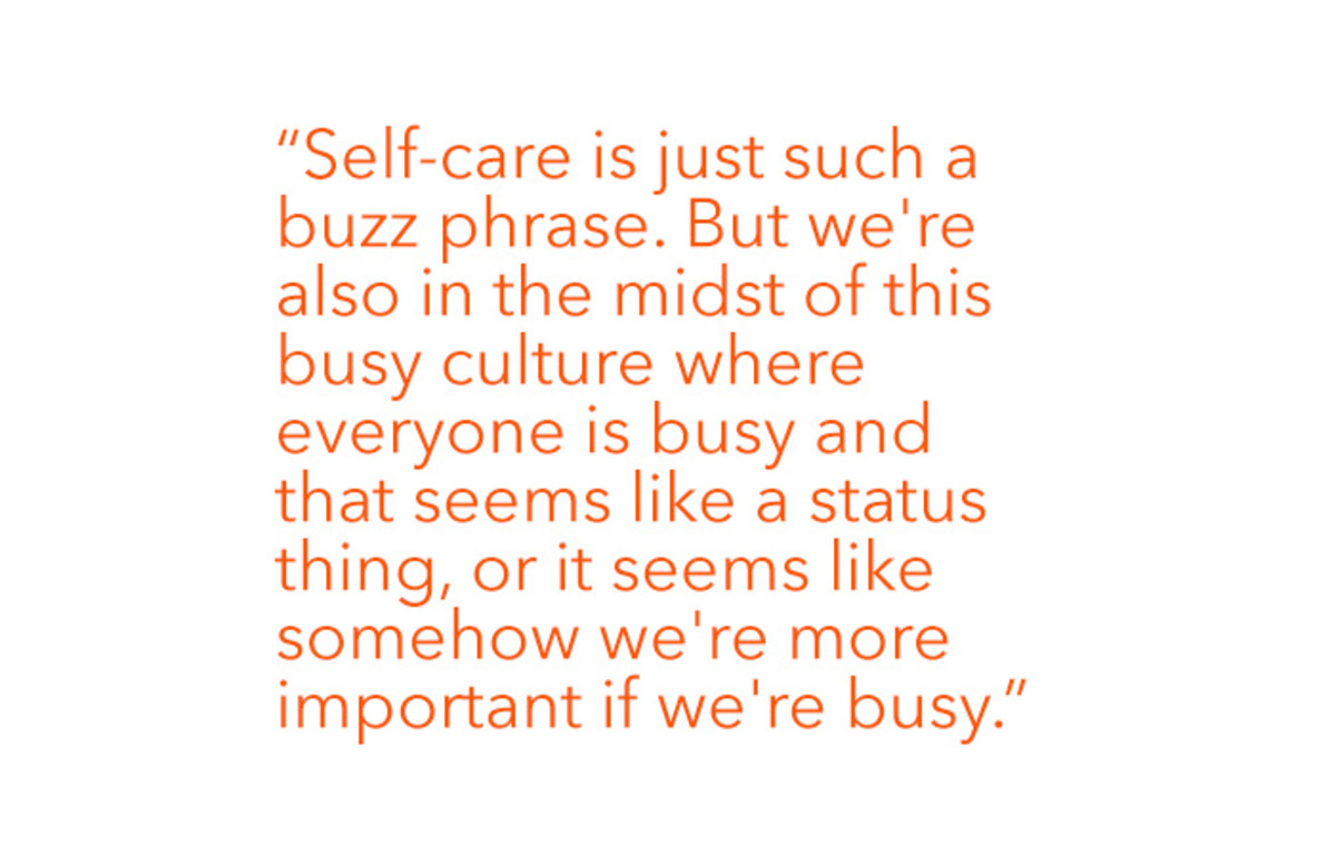 Tessa Virtue busy culture quote